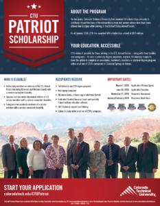 CTU Patriot Scholarship - JCF Colorado