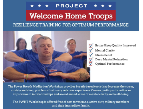Project Welcome Home Troops: Power Breath Meditation Workshop