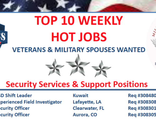 Latest Veteran Jobs