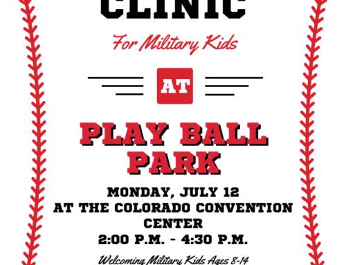 Baseball Clinic For Military Kids