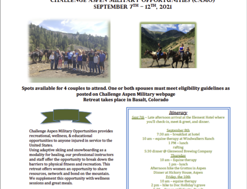 Challenge Aspen Military Opportunities (CAMO) – Equine Therapy Couples Retreat