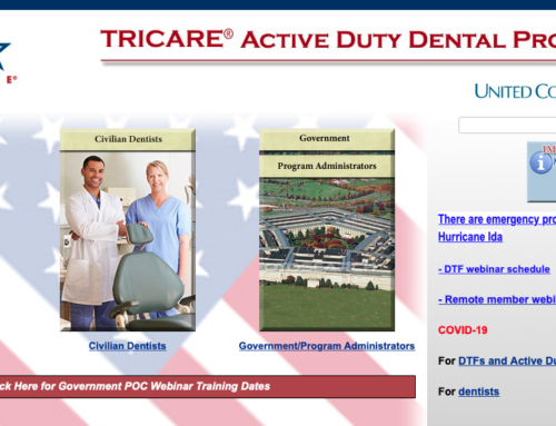 TRICARE Active Duty Dental Program (ADDP) Remote Training Opportunity