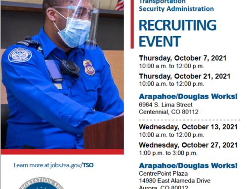 TSA Recruiting Events October 2021